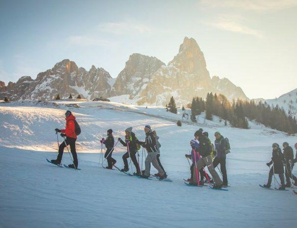 Schneeschuhwanderung durch die Pale di San Martino